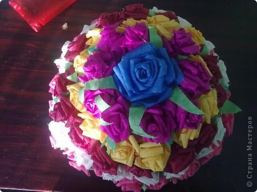 Цветочный тортик фото 2
