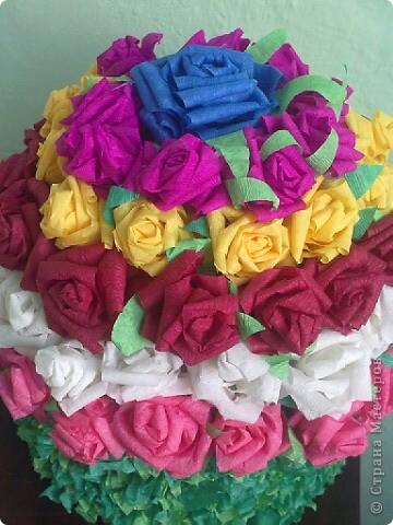 Цветочный тортик фото 3