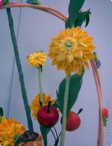 Корзинка, квиллинг, сухоцвет, декоративные яблоки, конфета, ежик и немного фантазии...:)))) фото 5
