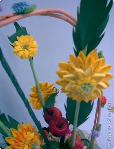 Корзинка, квиллинг, сухоцвет, декоративные яблоки, конфета, ежик и немного фантазии...:)))) фото 7