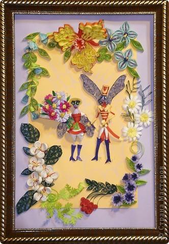 Картина панно рисунок Квиллинг Муха_цокотуха Бумага фото 2.