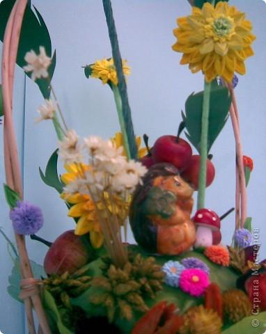 Корзинка, квиллинг, сухоцвет, декоративные яблоки, конфета, ежик и немного фантазии...:)))) фото 9