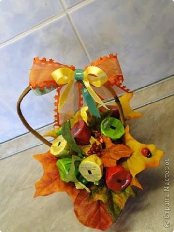Вот-такая сладкая корзинка! (конфетки Каркунов) фото 7