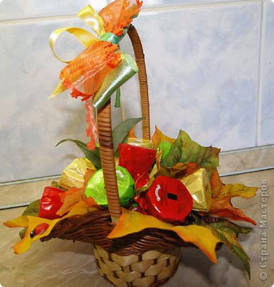 Вот-такая сладкая корзинка! (конфетки Каркунов) фото 8