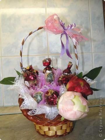 Вот-такая сладкая корзинка! (конфетки Каркунов) фото 9