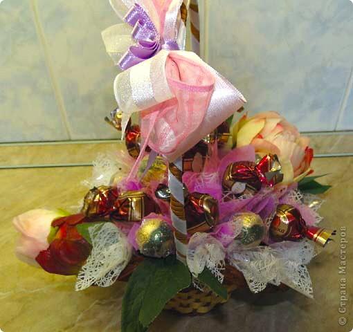 Вот-такая сладкая корзинка! (конфетки Каркунов) фото 12