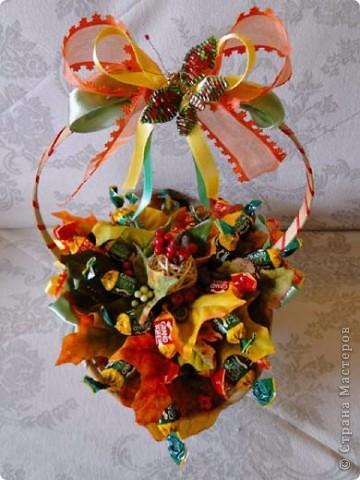 Вот-такая сладкая корзинка! (конфетки Каркунов) фото 15