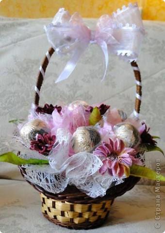 Вот-такая сладкая корзинка! (конфетки Каркунов) фото 2