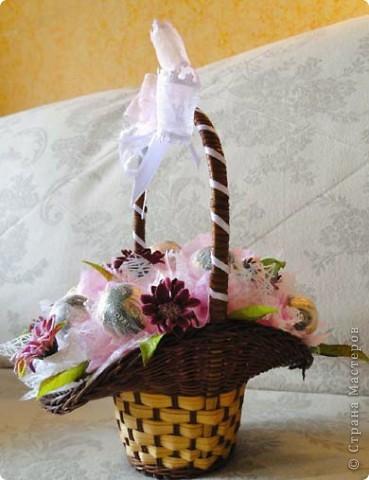 Вот-такая сладкая корзинка! (конфетки Каркунов) фото 3