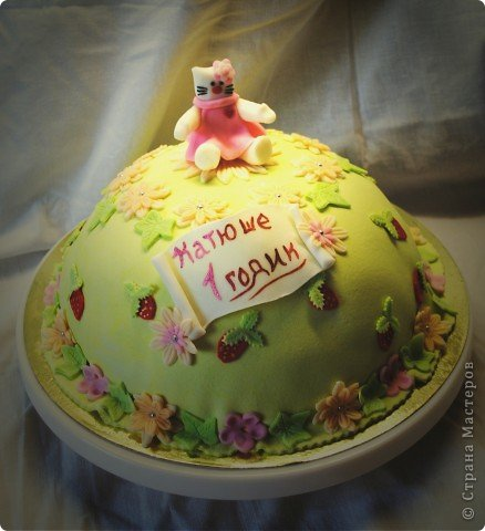 "Торт ""Котячья полянка"" МК фото 12"