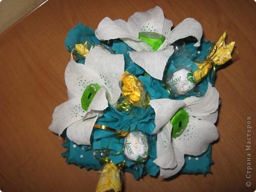 Вот такой букет из конфет получился в подарок Любоньке на День Веры, Надежды, Любви :) фото 3