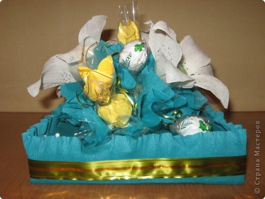 Вот такой букет из конфет получился в подарок Любоньке на День Веры, Надежды, Любви :) фото 2