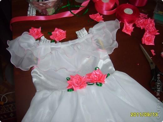 вот  такое платье я сшила на день рождения нашей крестнице. фото 3