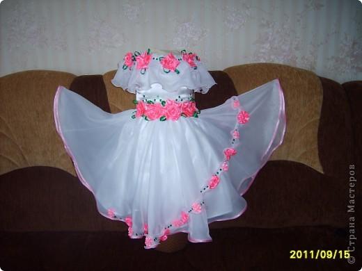 вот  такое платье я сшила на день рождения нашей крестнице. фото 1