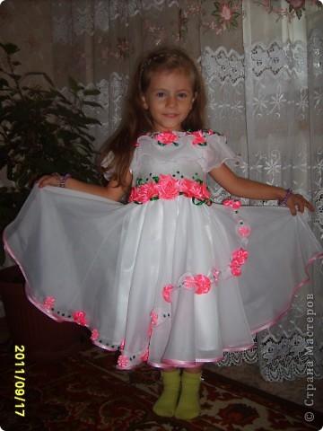 вот  такое платье я сшила на день рождения нашей крестнице. фото 7