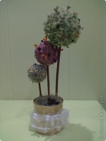 Эти деревья делает моя подруга Леночка, чьи деревья я уже показывала в одном из блогов! она тоже ими заразилась, ей очень нравиться их делать из природных материалов, как и мне)  фото 1