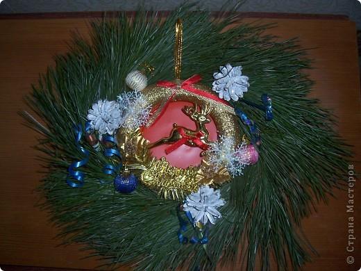 Венок на Рождество. Ветки кедра натуральные. фото 1