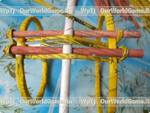 Мастер-класс Плетение Мастер-класс ажурная корзинка из газетных трубочек Бумага газетная фото 9