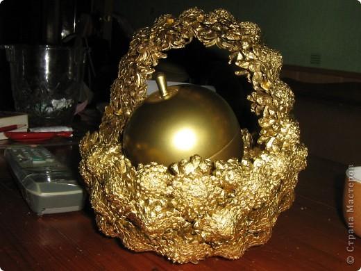 Наливное яблочко в золотой корзиночке. фото 2