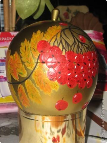Наливное яблочко в золотой корзиночке. фото 4