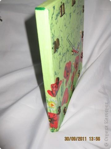 Часики на заказ: салфетка, кракелюр на ПВА, контуры, подрисовка, лак фото 3