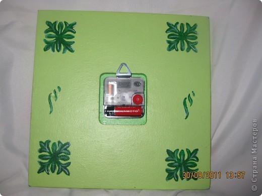 Часики на заказ: салфетка, кракелюр на ПВА, контуры, подрисовка, лак фото 4