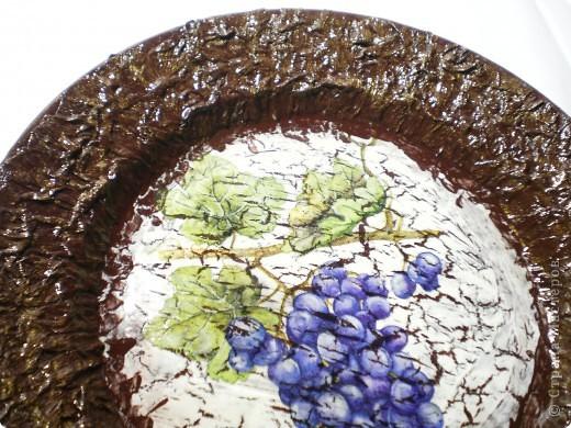 Тарелочка с виноградом