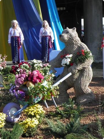 В сентябре у нас был день города. И, как обычно, состоялась выставка цветов. Вот какую красоту я там видела. Хочу с Вами поделиться))) Это Цветочная лошадка! фото 13