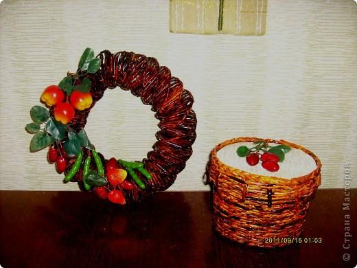 делала для тети,  предыдущий презент ей понравился :)))) и я решила продолжить серию плетеных подарков :)  фото 2