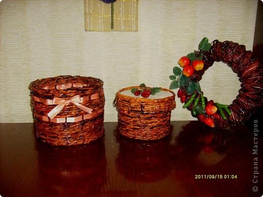 делала для тети,  предыдущий презент ей понравился :)))) и я решила продолжить серию плетеных подарков :)  фото 3