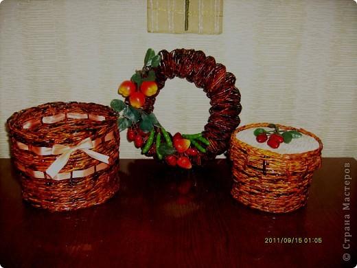 делала для тети,  предыдущий презент ей понравился :)))) и я решила продолжить серию плетеных подарков :)  фото 1