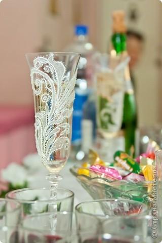 Свадебные бокалы (структурная паста)