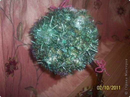 Деревце-кактус, потому что оочень колючее, сделала из расторопши ,  правда большие колючки посрезала, в некоторых местах она цветет) фото 5
