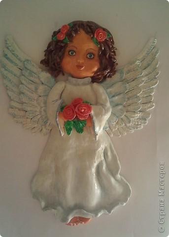 Слепила ангелочка благодаря МК Ларисы Ивановой, тоже насмотрелась на ее ангелочков........