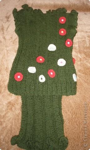 Чтоб зимой было тепло, связала дочке костюмчик. Жилет и юбка. фото 3