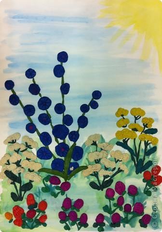 """Из книги Т.Н.Просняковой """"Цветы"""" (серия Любимый образ) мы с первоклассниками делали коллективную работу в подарок учителям. фото 1"""