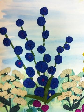 """Из книги Т.Н.Просняковой """"Цветы"""" (серия Любимый образ) мы с первоклассниками делали коллективную работу в подарок учителям. фото 4"""
