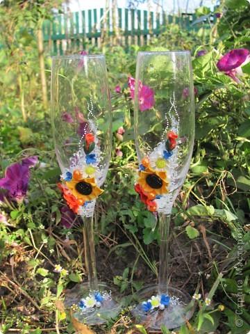 Ось вирішила показати вам нові бокали зроблені в українському стилі.  фото 3