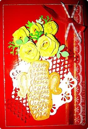 Хочу показать открыточку (правда, она что-то не хочет фотографироваться!) с благодарностью девочкам за полученные письма с карточками. фото 1