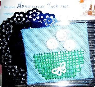 Хочу показать открыточку (правда, она что-то не хочет фотографироваться!) с благодарностью девочкам за полученные письма с карточками. фото 3