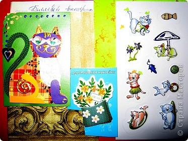 Хочу показать открыточку (правда, она что-то не хочет фотографироваться!) с благодарностью девочкам за полученные письма с карточками. фото 5