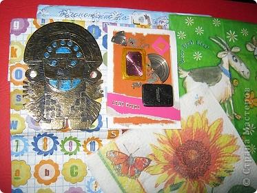 Хочу показать открыточку (правда, она что-то не хочет фотографироваться!) с благодарностью девочкам за полученные письма с карточками. фото 9