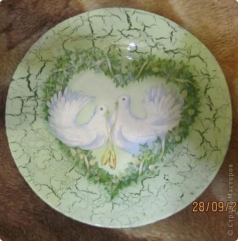 Моя первая тарелочка.