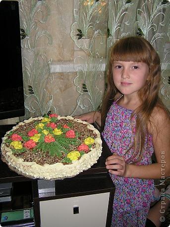 Такой  тортик  на скорую  руку приготовила  на   день рождения  своей  дочурки. 30  сентября  ей  исполнилось  11 лет! фото 2