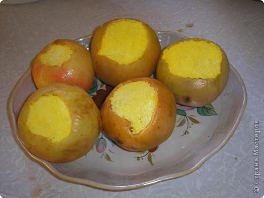 Всем привет! некоторые моменты кулинарии для детишек! Яблочки фаршированные сыром! фото 1