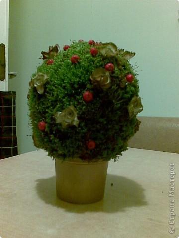 """Вот такой """"цветок"""" отправили мы с детьми на осеннюю выставку в школу. фото 1"""