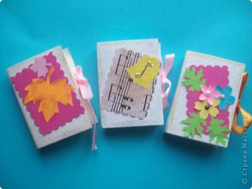 Завтра День Учителя!!!! И для своих любимых учителей я сделала вот такие блокнотики из блоков для записи, пастельной бумаги,дырокольностей. Идея взята на страницах СМ. Спасибо всем за прекрасные идеи!!!!!! фото 1
