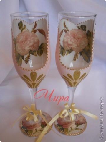 """Здравствуйте,дорогие рукодельницы! Сделала набор на 10 летний юбилей свадьбы,называемый """"Розовой свадьбой"""". Использован сюжет """"Амур и Психея в детстве"""" Бугро. фото 3"""