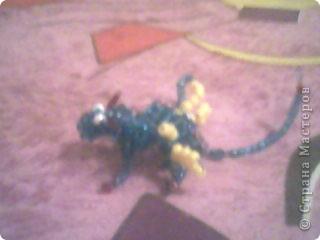 Дракоша из бисера фото 1