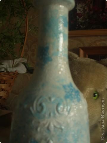 Вот такая получилась зимняя бутылочка... фото 3